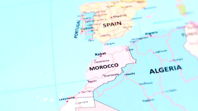 africa morocco from world map - europa continente video stock e b–roll