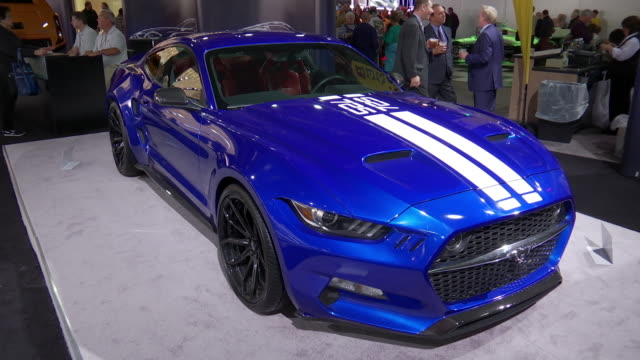 zo ws front end / zo cu front end / zo ws front quarter passenger side view / ws passenger side profile / ws rear end / cu vlf logo in wheel hub zo... - ford mustang stock videos and b-roll footage