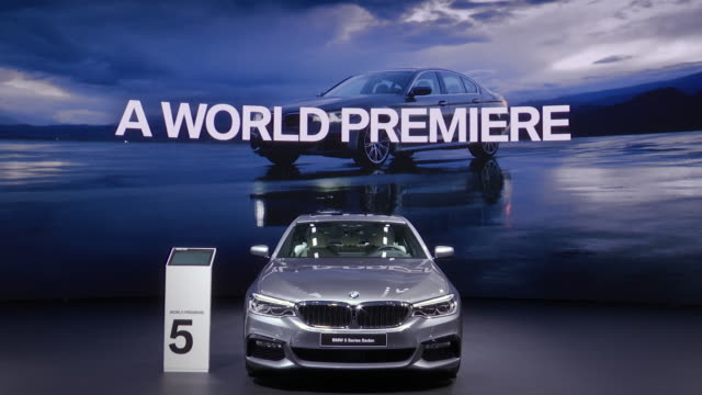 xws front end of car in front of massive video wall / zo ws front end of bmw / zo cu front end driver side angle / zo ws driver side profile / ws ha... - end cap stock videos & royalty-free footage