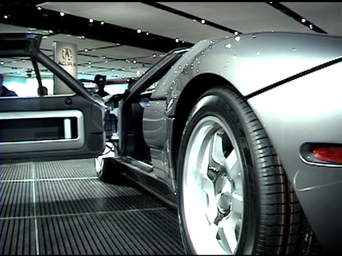 Ws Ha Front End Of Ford Gt Super Car Revolving On Turntable Ms Driver Side