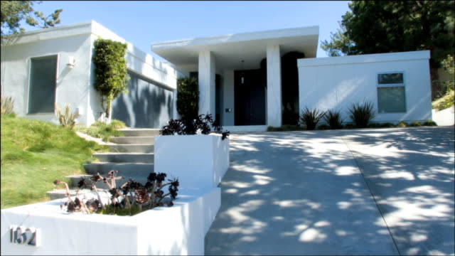 MS Front entrance of modern style house