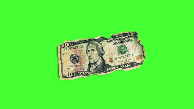 front of $10 dollar bill on chroma key - bank account stock videos & royalty-free footage