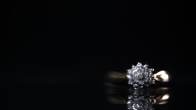 front of gold diamond engagement ring - intricacy stock videos & royalty-free footage