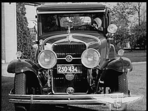 b/w 1928 front of la salle car / industrial - 1928 stock videos & royalty-free footage