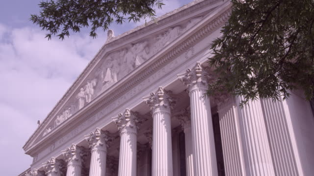 stockvideo's en b-roll-footage met la front of national archives building / washington dc, united states - national archives washington dc