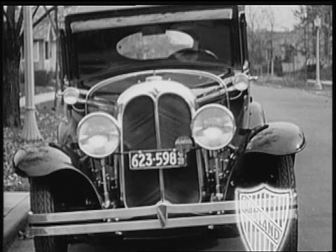 b/w 1928 front of oakland car / industrial - 1928 stock videos & royalty-free footage
