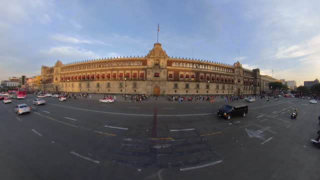 front of the national palace in mexico city - side by side stock videos & royalty-free footage
