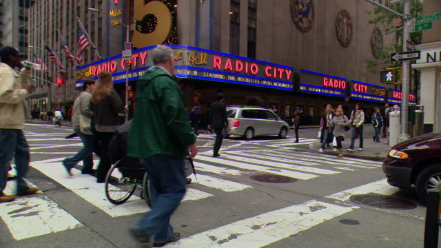 pov / front / side view / front passenger side view from car stopped on park avenue in midtown / new york city, new york, united states - radio city music hall stock videos & royalty-free footage