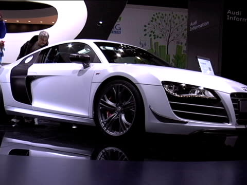 WS front quarter passenger side view of Audi R8 GT supercar / WS HA front quarter driver side view / WS HA rear end looking down through rear...