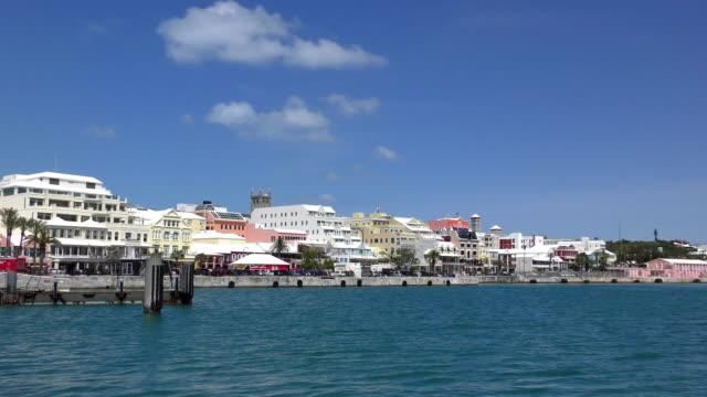 front street - hamilton, bermuda - bermuda stock videos & royalty-free footage