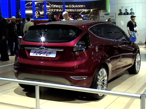 front three-quarter passenger side view of verve hatchback / rear three-quarter passenger side view / rear vanity plate / front seat interior; to... - dreiviertelansicht stock-videos und b-roll-filmmaterial