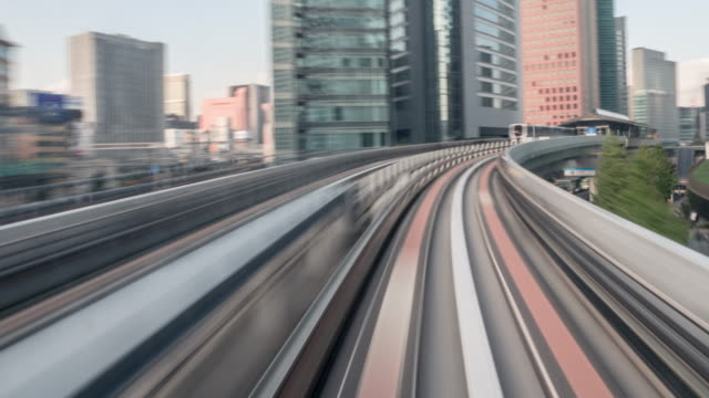front train hyperlapse - monorail stock videos & royalty-free footage