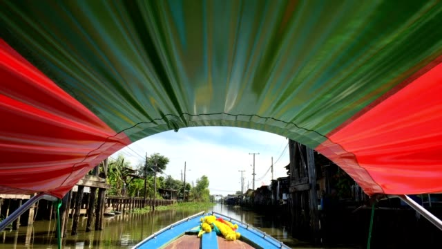 front view from boat nose - ecoturismo video stock e b–roll