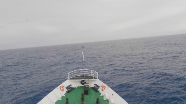 front view of a passenger vessel while crossing the drake passage - drake passage stock videos and b-roll footage