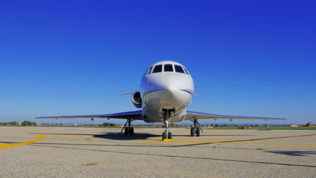 front view of a private jet in motion. - private jet stock videos & royalty-free footage