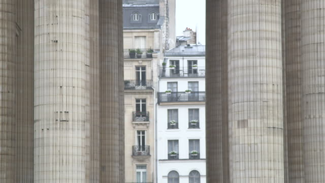 front view of building in paris - pantheon paris stock videos & royalty-free footage