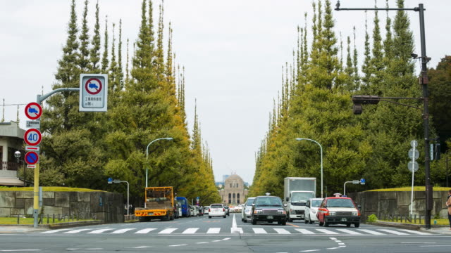 Front view of Meiji Jingu Gaien road