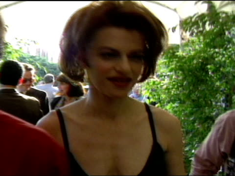 mcu front view sandra bernhard walking and chatting with playboy publisher mike perlis through grounds of playboy mansion followed by camera man and... - westwood neighborhood los angeles stock videos & royalty-free footage