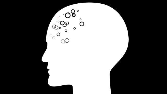 brain : frontal lobe, black back (loop) - lobe stock videos & royalty-free footage