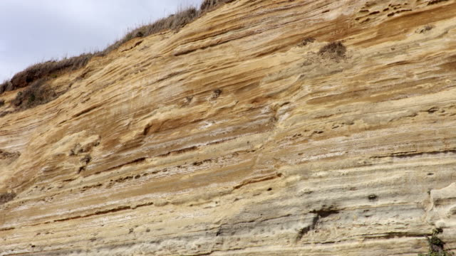 frontal view of horizontal strata - rock strata stock videos & royalty-free footage