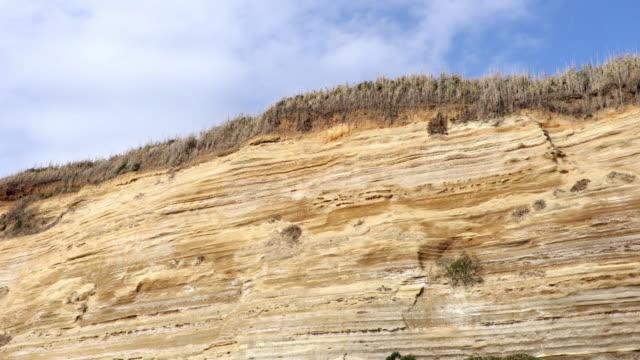 frontal view of horizontal strata - rock strata stock videos & royalty-free footage