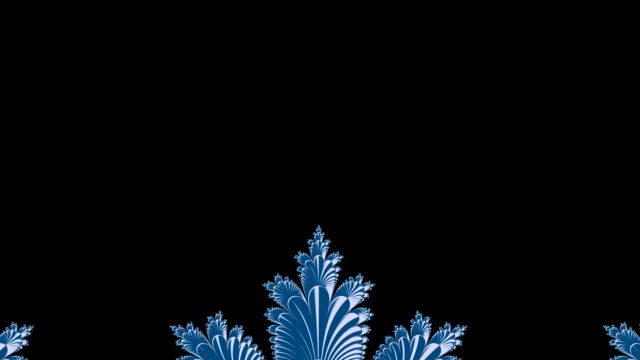 Frosty fractal animation HD video