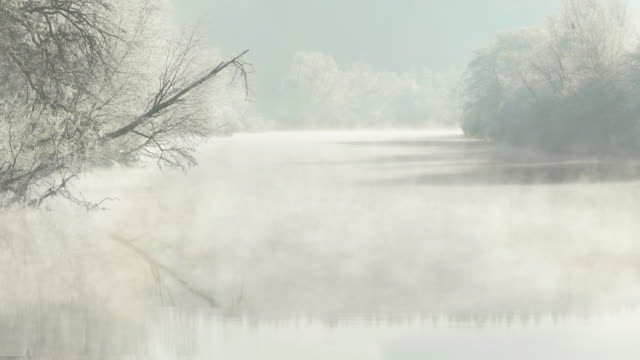 frosty river - landscape scenery stock videos & royalty-free footage