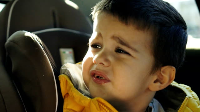 frowned toddler boy - grimacing stock videos & royalty-free footage
