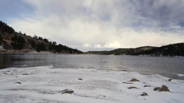 Frozen Colorado lake