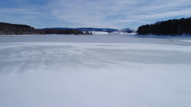 vidéos et rushes de lac gelé  - glacé