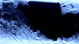 frozen pattern cover the dark background