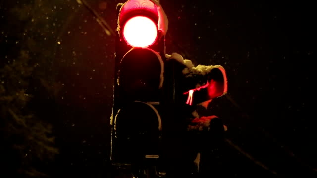 frozen traffic lights