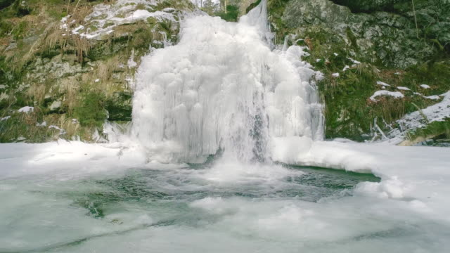 frozen waterfall - frozen stock videos & royalty-free footage