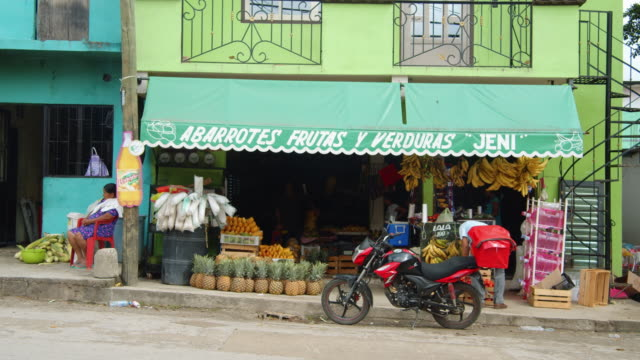 fruit and vegetables abarrotes store in palenque, mexico - corner stock videos & royalty-free footage