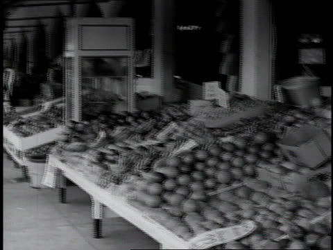 PAN Fruit and vegetables displayed at street market / Miami, Florida
