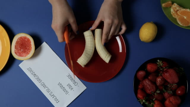 Fruit dessert for child