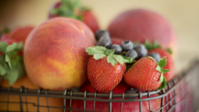 fruit in a basket - fruit bowl stock videos & royalty-free footage