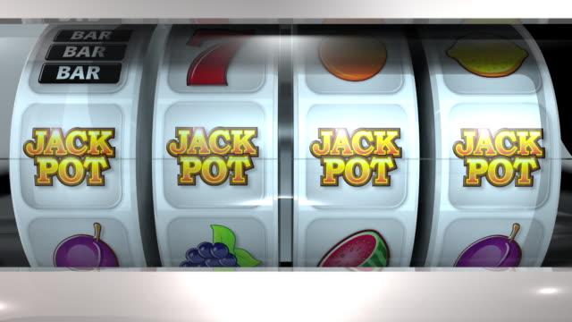 fruit machine: 4 reels – jackpot - plum stock videos & royalty-free footage