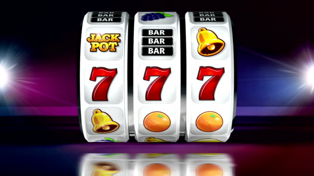 fruit machine: line of sevens on dark background - jackpot stock videos and b-roll footage