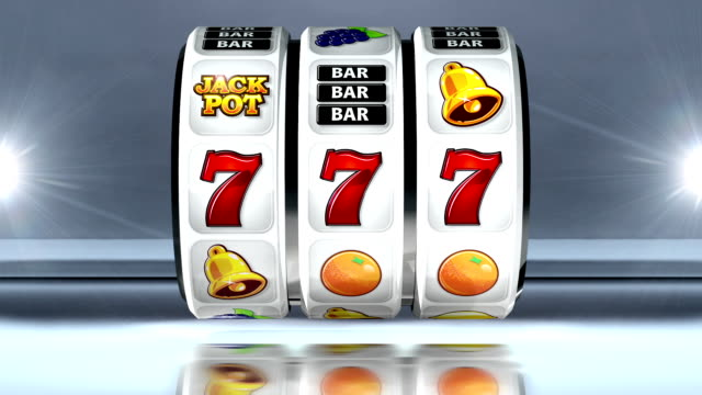 fruit machine: line of sevens on light background - slot machine stock videos and b-roll footage