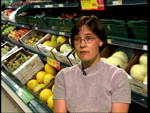 London INT i/c Alette Weaver interviewed SOT Should be eating five portions of fruit and veg per day and one portion of oily fish a week i/c Alette...