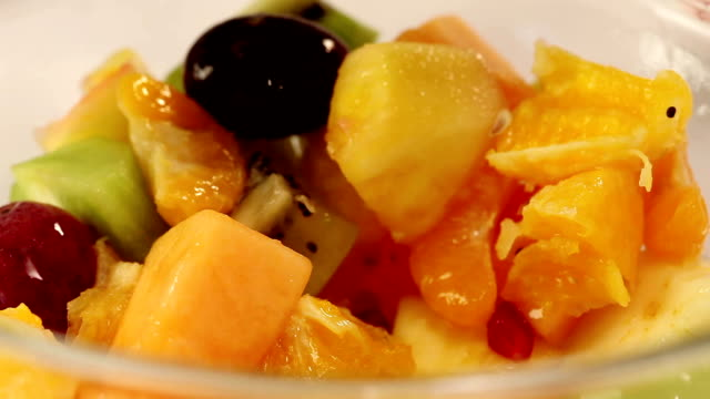 fruit salad - bowl stock videos & royalty-free footage