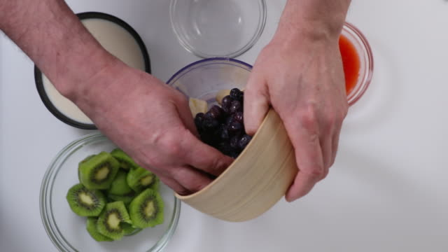 fruit smoothie. - kiwi fruit stock videos and b-roll footage