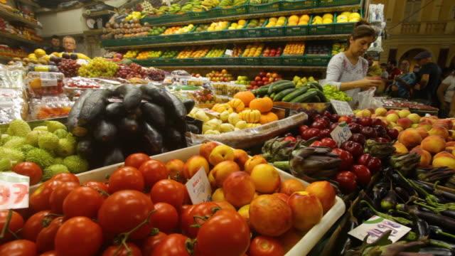 fruit stall, central public market, porto alegre, rio grande do sul - alegre stock videos & royalty-free footage