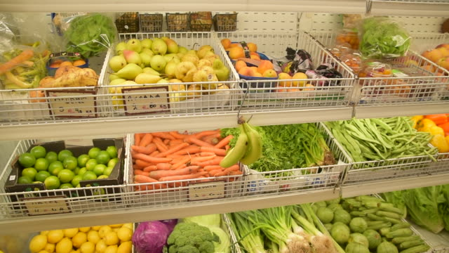 fruits and vegetables in the greek market - market stall stock videos & royalty-free footage