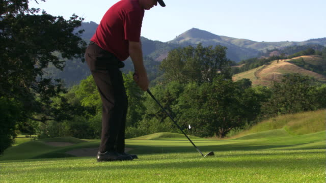 frustrated golfer - golf swing stock videos & royalty-free footage