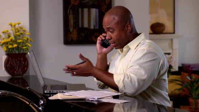 Frustrated Man Argues with Large Company over the Phone