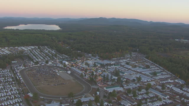 Fryeburg Fair 2020 Schedule.Ws Aerial Pov Fryeburg Fair With Parking Lot Tree Area And