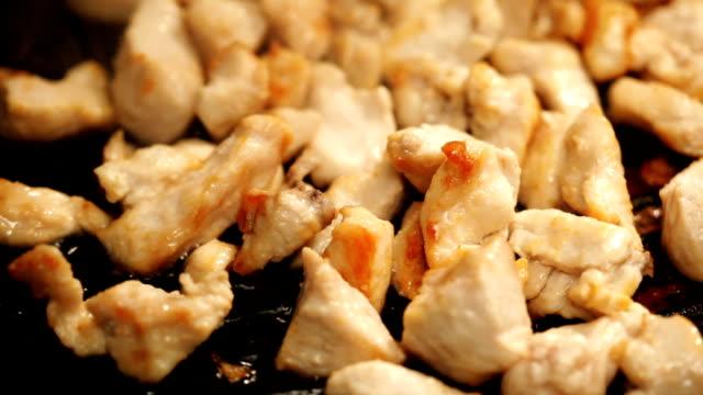 frying chicken - roast chicken stock videos & royalty-free footage