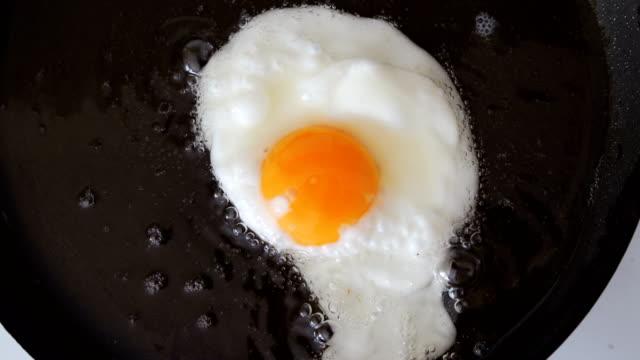 Frying egg in a pan